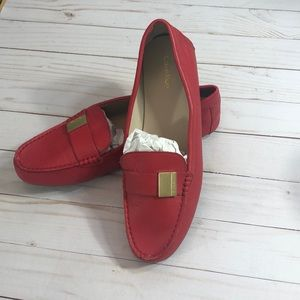 Calvin Klein Red Leather Loafers - 11